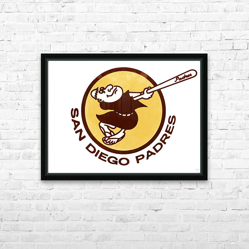 1980 San Diego Padres Wall Art HD Sublimation Metal print with Decorating Float Frame (BOX)