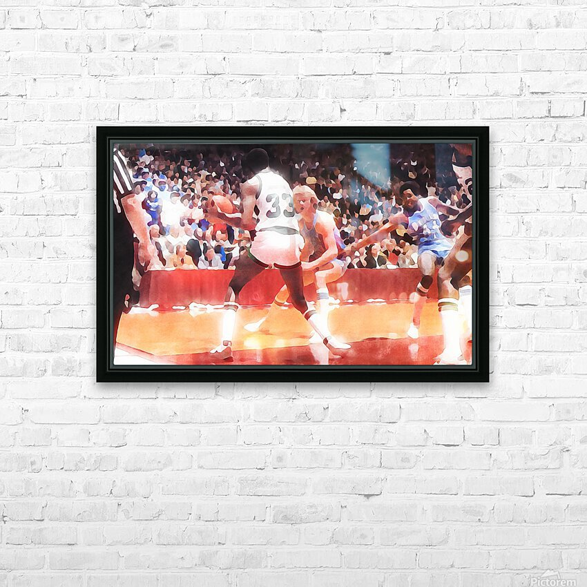 1979 Magic vs. Bird HD Sublimation Metal print with Decorating Float Frame (BOX)