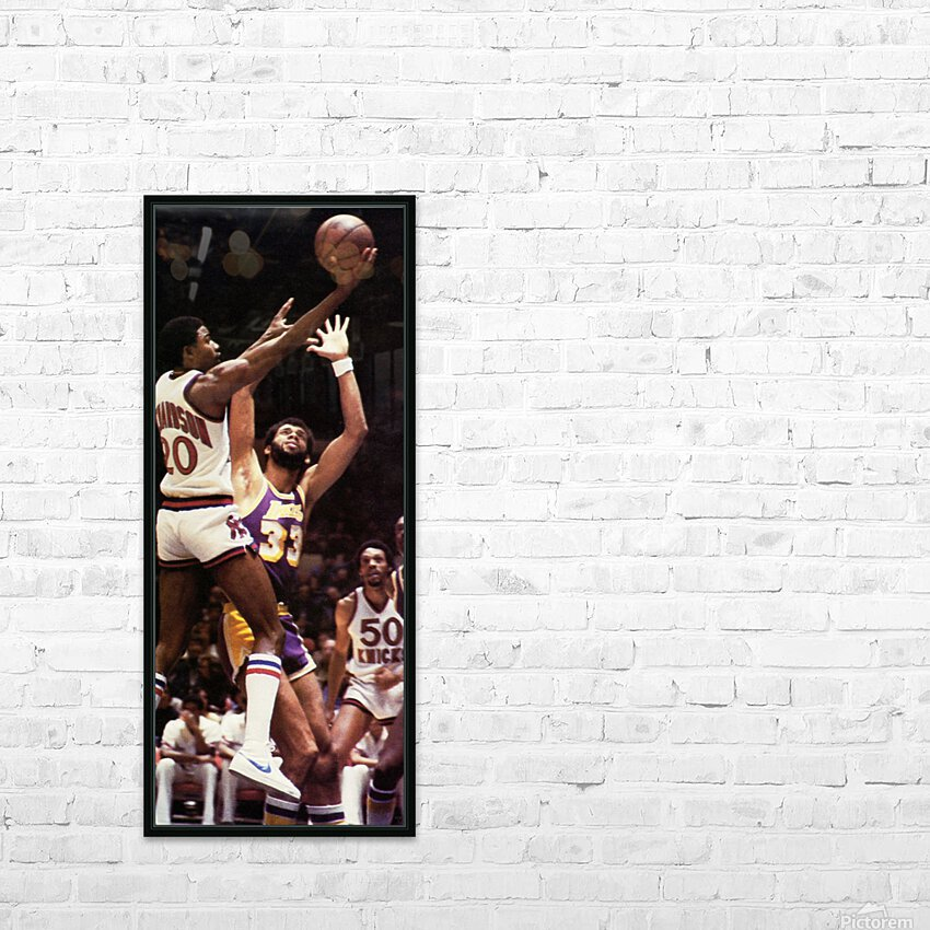 1981 Knicks vs. Lakers Art HD Sublimation Metal print with Decorating Float Frame (BOX)