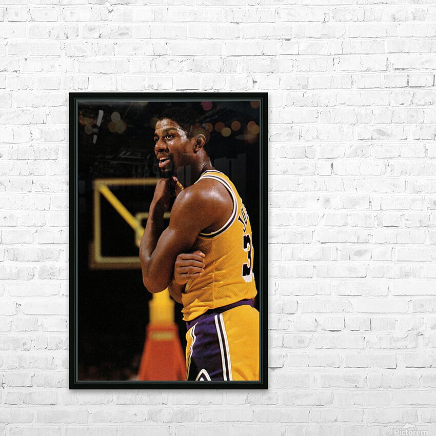 1984 Magic Johnson Row 1 HD Sublimation Metal print with Decorating Float Frame (BOX)