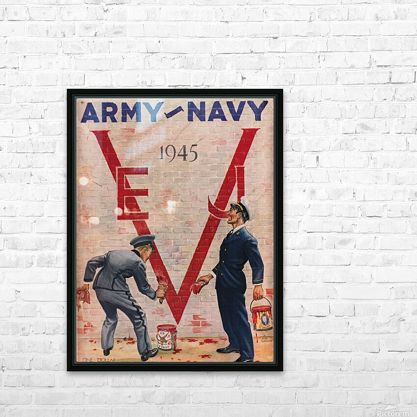 1945 Army Navy Football Program Canvas Art HD Sublimation Metal print with Decorating Float Frame (BOX)