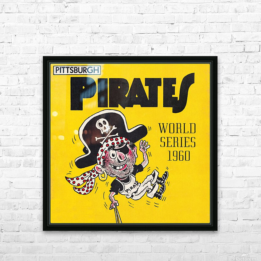 1960 Pittsburgh Pirates World Series Art HD Sublimation Metal print with Decorating Float Frame (BOX)