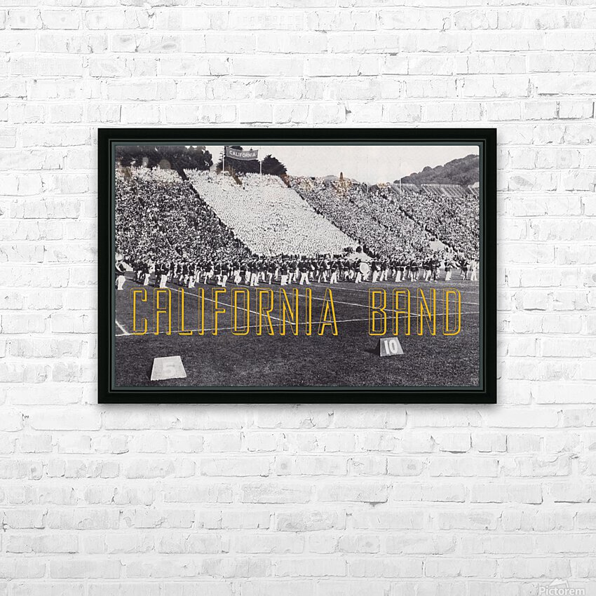 1937 California Marching Band Art HD Sublimation Metal print with Decorating Float Frame (BOX)