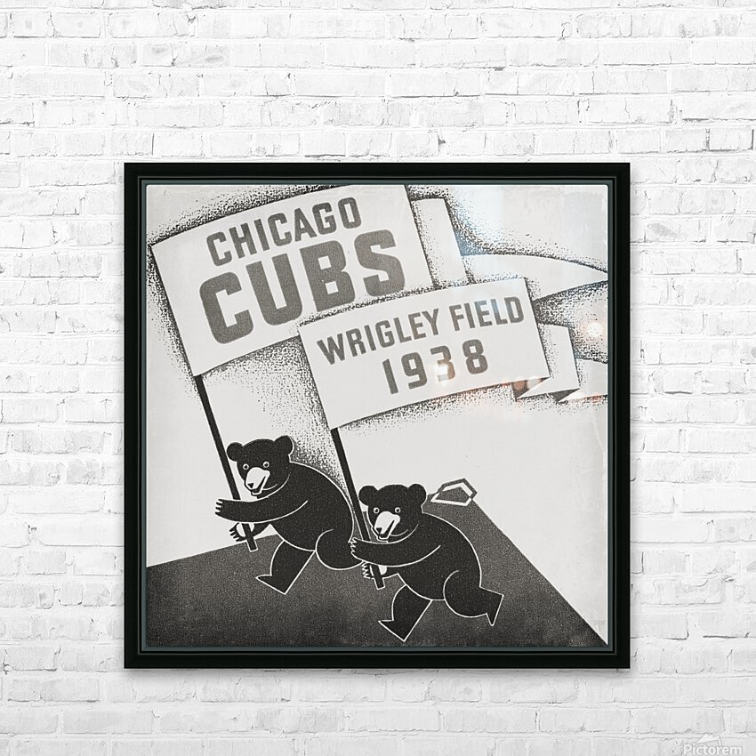 1938 Chicago Cubs Remix Row 1 HD Sublimation Metal print with Decorating Float Frame (BOX)