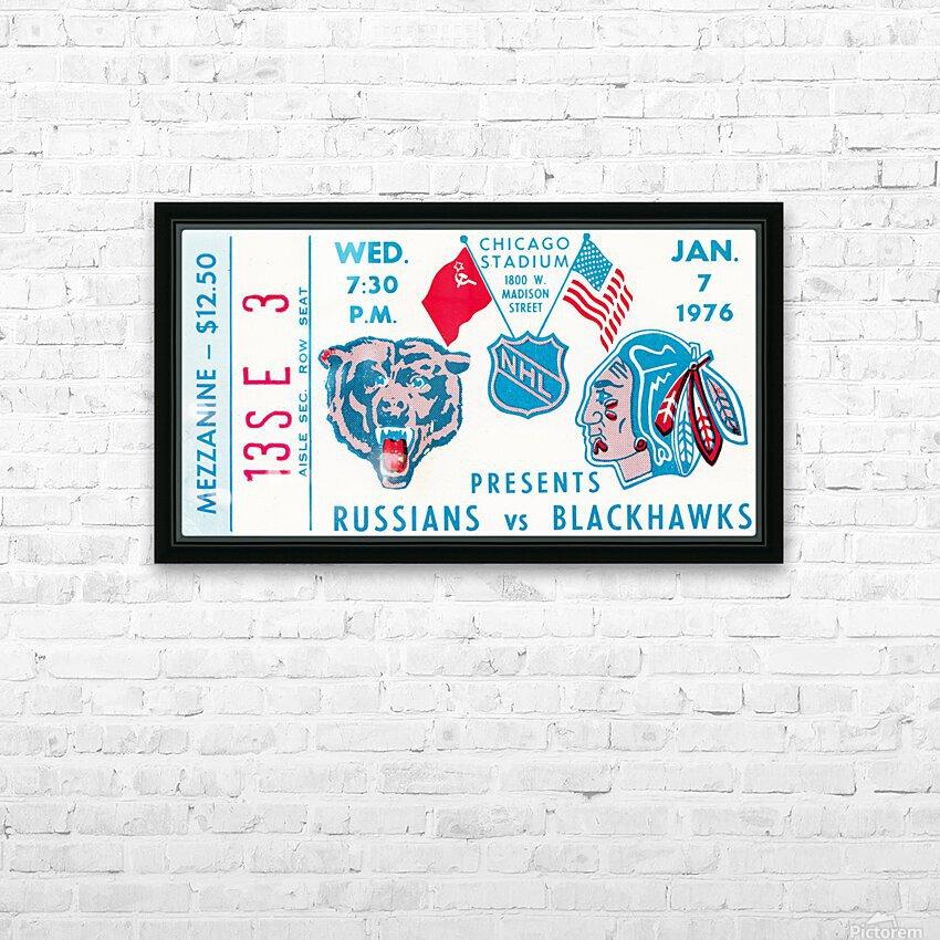 1976 Russians vs. Chicago Blackhawks Ticket Stub Art HD Sublimation Metal print with Decorating Float Frame (BOX)