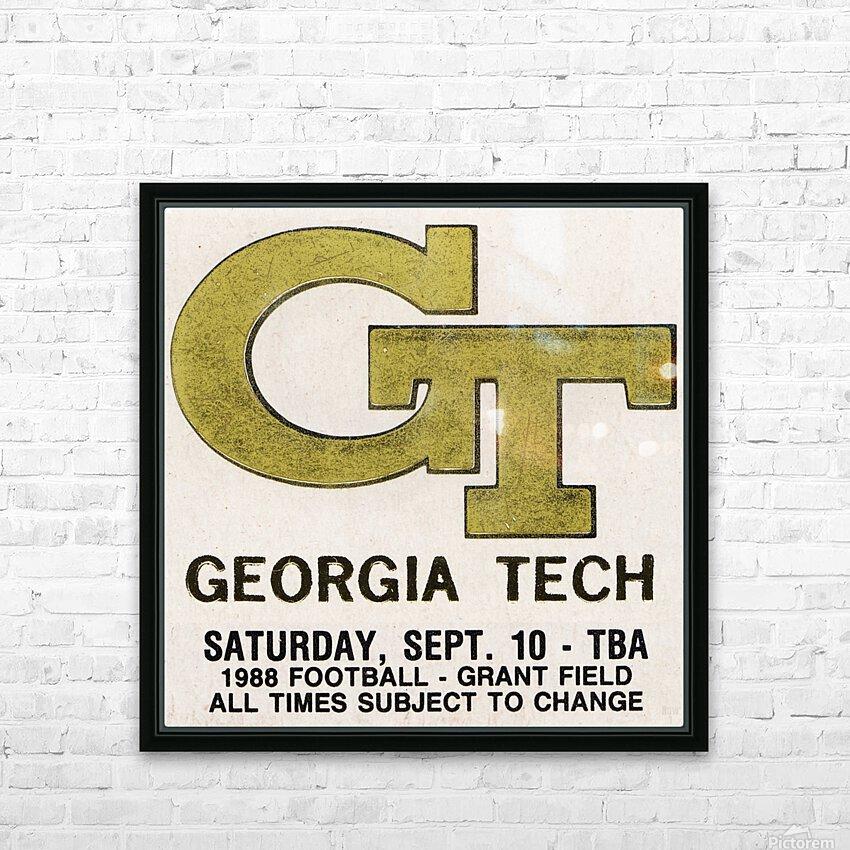 1988 Georgia Tech Football Ticket Stub Remix HD Sublimation Metal print with Decorating Float Frame (BOX)