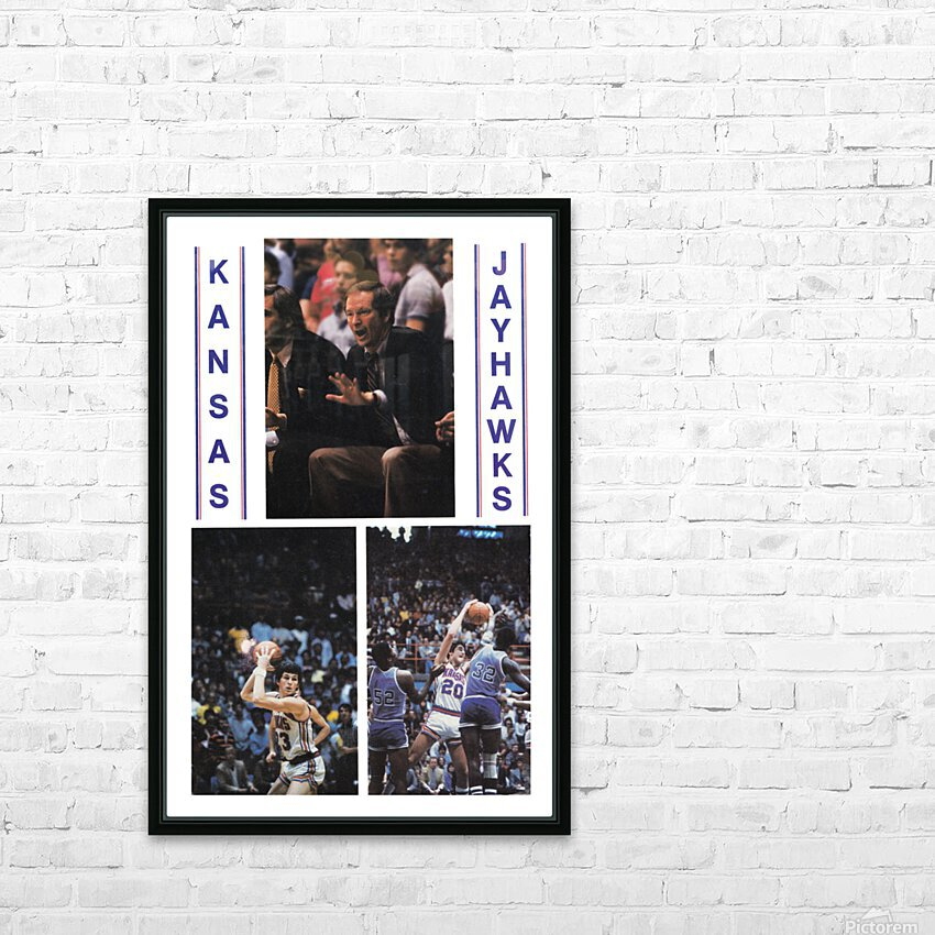 1982 Kansas Jayhawks Basketball Art HD Sublimation Metal print with Decorating Float Frame (BOX)
