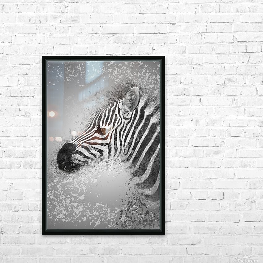 zebre 2 HD Sublimation Metal print with Decorating Float Frame (BOX)