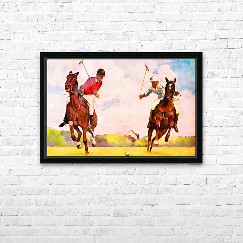 1933 Vintage Polo Art HD Sublimation Metal print with Decorating Float Frame (BOX)