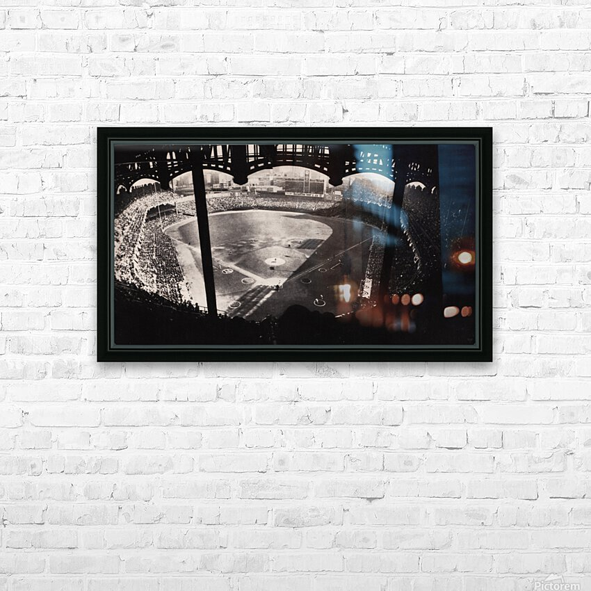 1963 Yankee Stadium Art HD Sublimation Metal print with Decorating Float Frame (BOX)