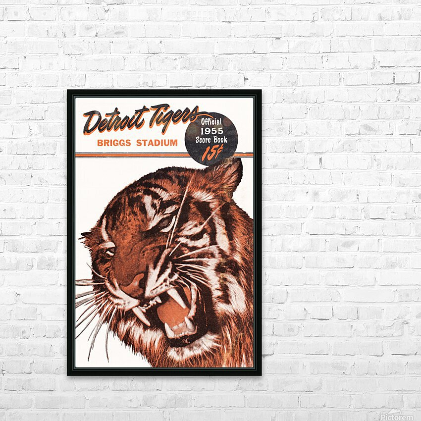1955 Detroit Tigers Score Book Canvas HD Sublimation Metal print with Decorating Float Frame (BOX)