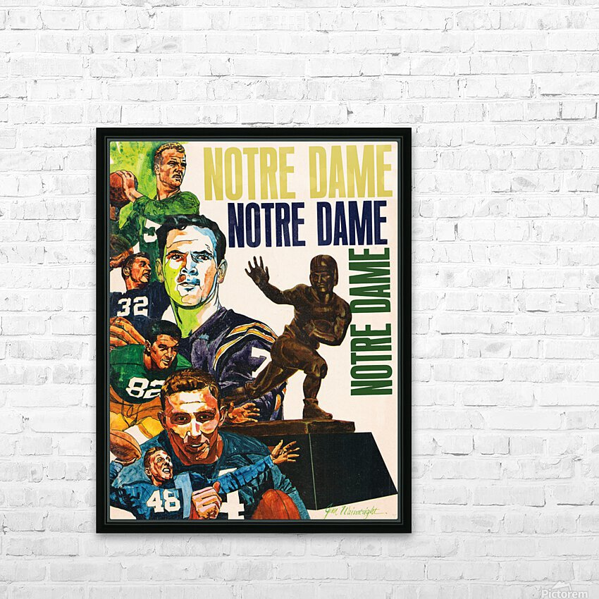 1968 Notre Dame Football Heisman Winner Art HD Sublimation Metal print with Decorating Float Frame (BOX)