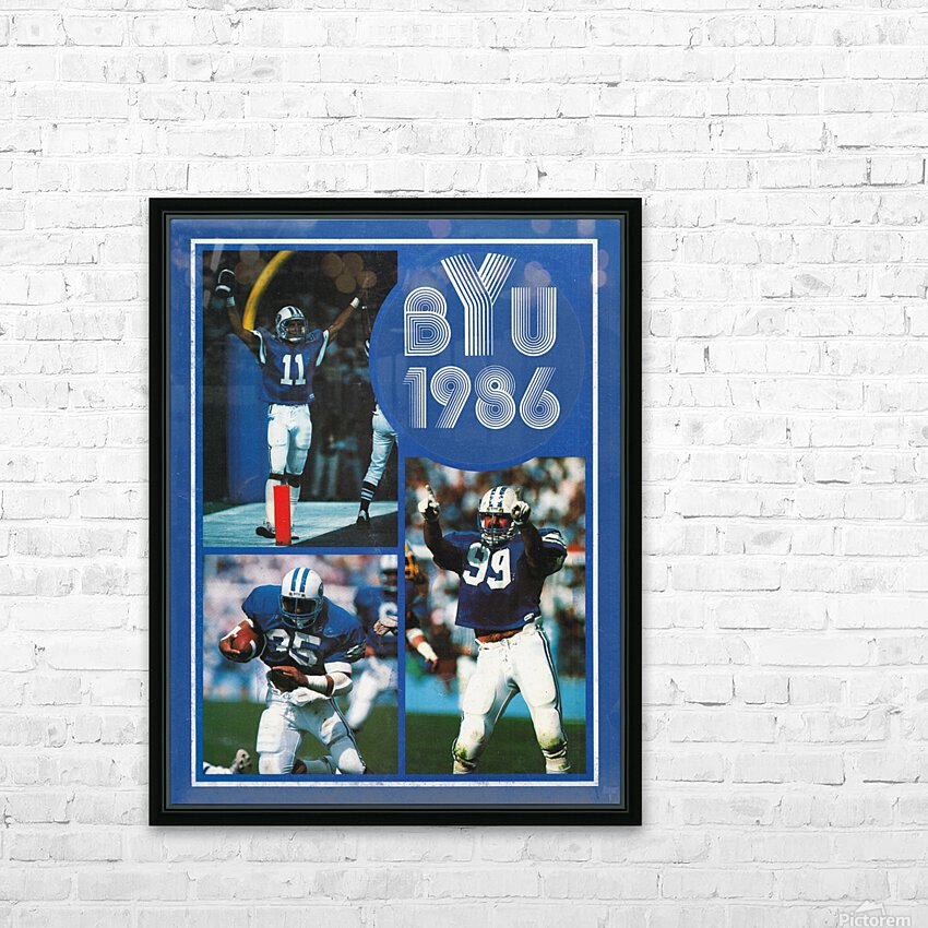 1986 BYU Cougars Football Art HD Sublimation Metal print with Decorating Float Frame (BOX)