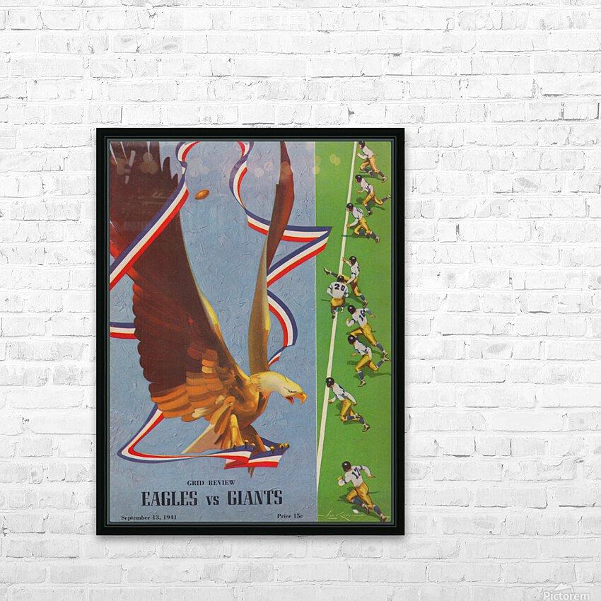 1941 Philadelphia Eagles vs. Giants HD Sublimation Metal print with Decorating Float Frame (BOX)