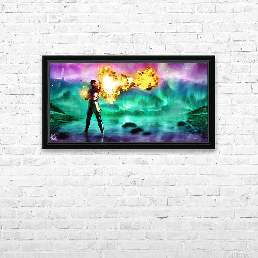 Battlemage HD Sublimation Metal print with Decorating Float Frame (BOX)