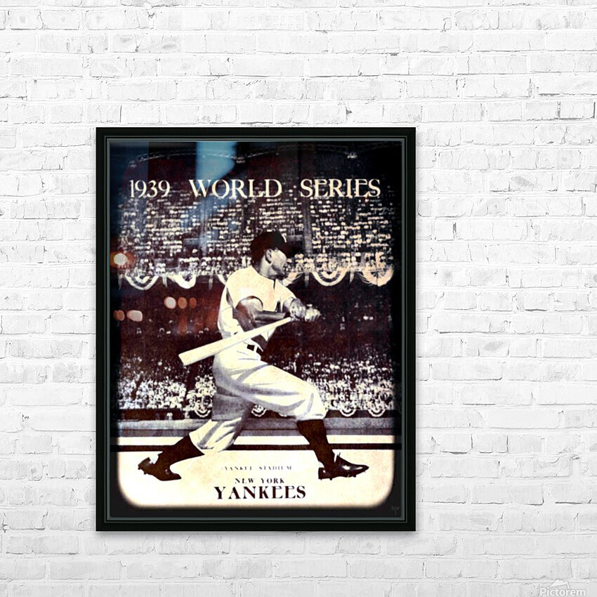 1939 Vintage World Series Program Cover Art Remix by Row 1 HD Sublimation Metal print with Decorating Float Frame (BOX)