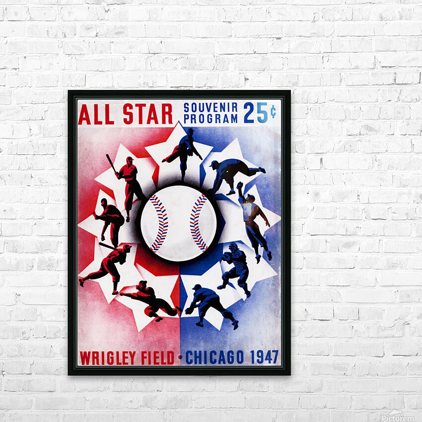 1947 Chicago All-Star Game Program Art HD Sublimation Metal print with Decorating Float Frame (BOX)