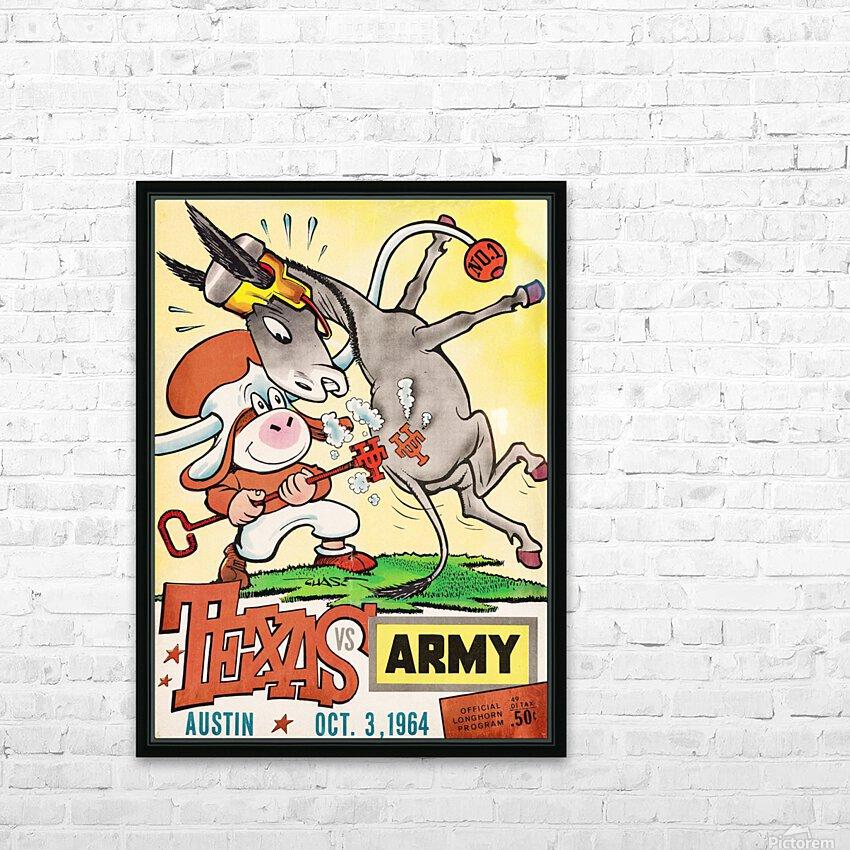 1964 Army vs. Texas Longhorns Football Program Art HD Sublimation Metal print with Decorating Float Frame (BOX)