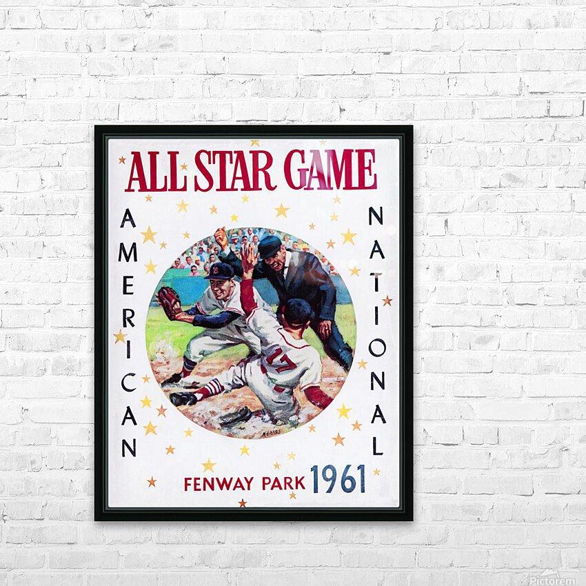 1961 Boston All-Star Game Baseball Program Art HD Sublimation Metal print with Decorating Float Frame (BOX)