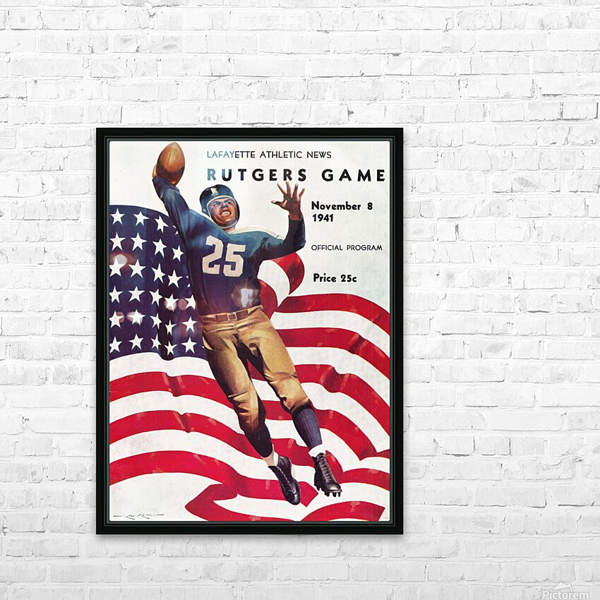 1941 Rutgers vs. Lafayette HD Sublimation Metal print with Decorating Float Frame (BOX)