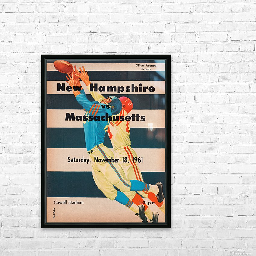 1961 Massachusetts vs. New Hampshire Wildcats HD Sublimation Metal print with Decorating Float Frame (BOX)