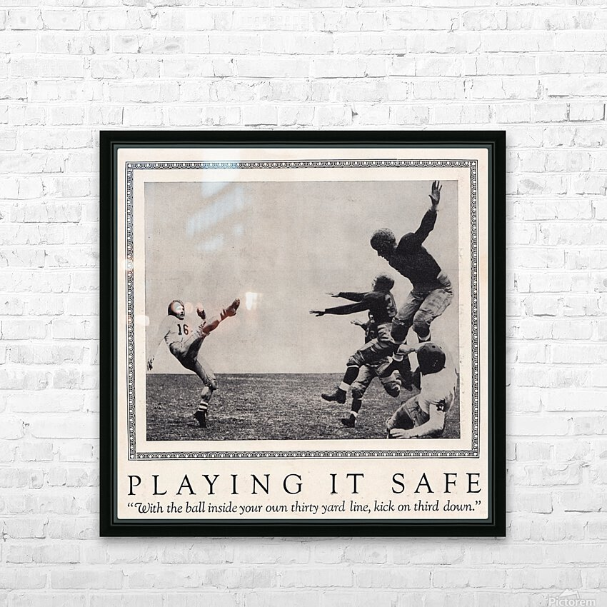 1938 Football Play it Safe Kick on Third Down HD Sublimation Metal print with Decorating Float Frame (BOX)