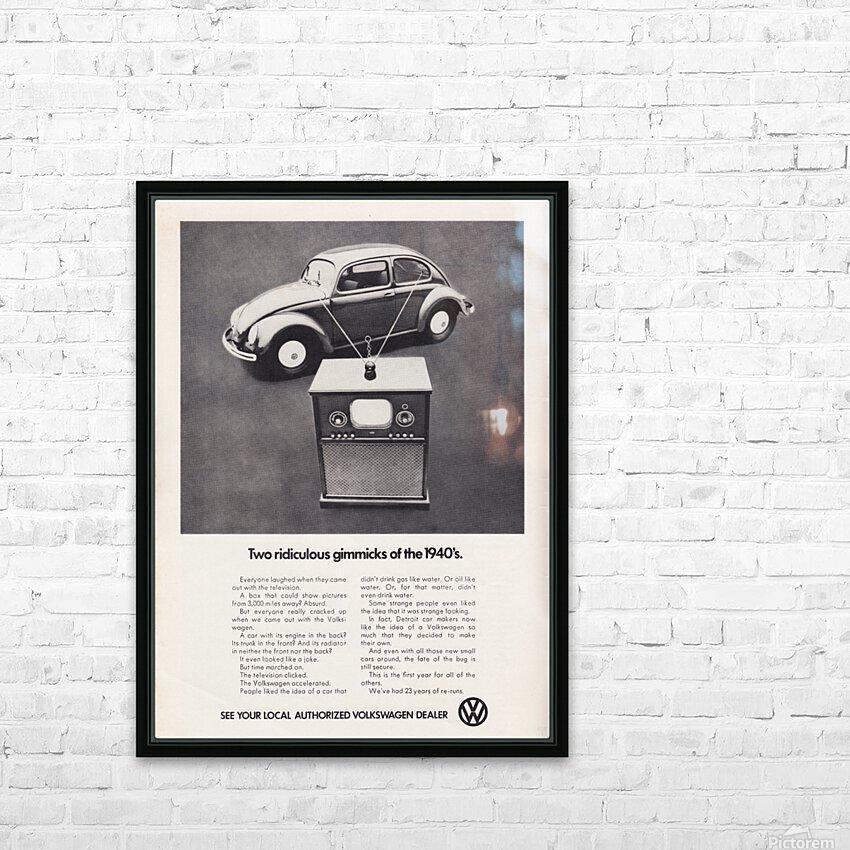 1971 Vintage Volkswagen Car Ad Poster HD Sublimation Metal print with Decorating Float Frame (BOX)