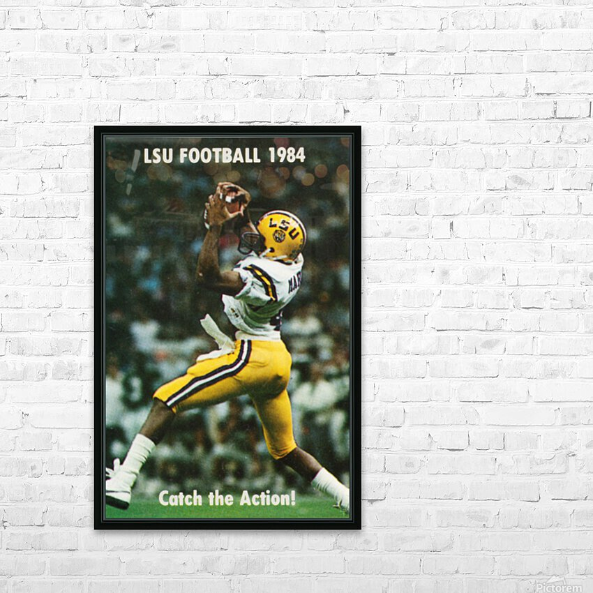 1984 LSU Tigers Football Catch The Action HD Sublimation Metal print with Decorating Float Frame (BOX)
