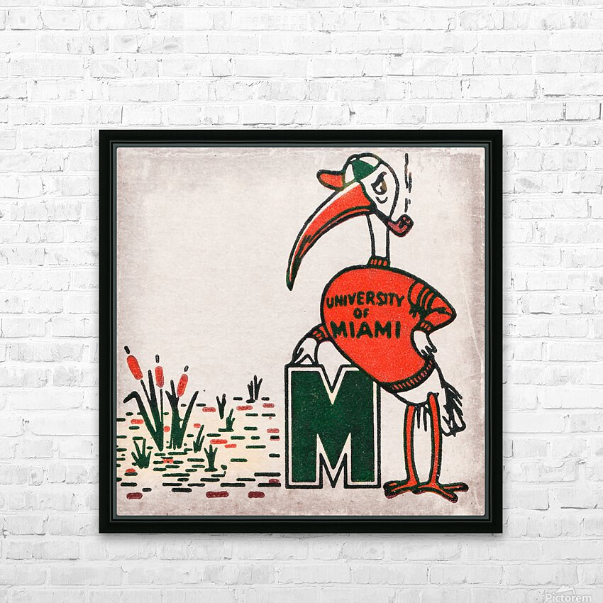 Vintage Fifties Miami Hurricane Art HD Sublimation Metal print with Decorating Float Frame (BOX)