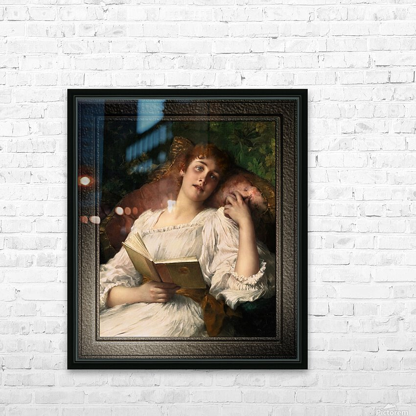 Day Dreaming by Conrad Kiesel Xzendor7 Old Masters Reproductions HD Sublimation Metal print with Decorating Float Frame (BOX)