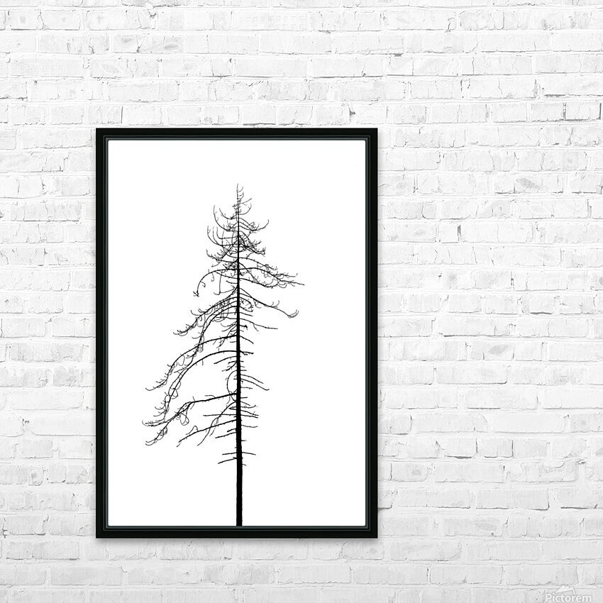 Tree silhouette HD Sublimation Metal print with Decorating Float Frame (BOX)