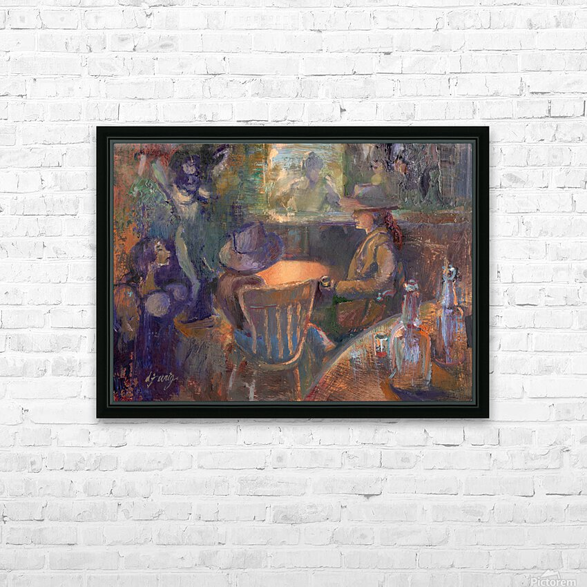 Wild West Brothel on the American Frontier HD Sublimation Metal print with Decorating Float Frame (BOX)