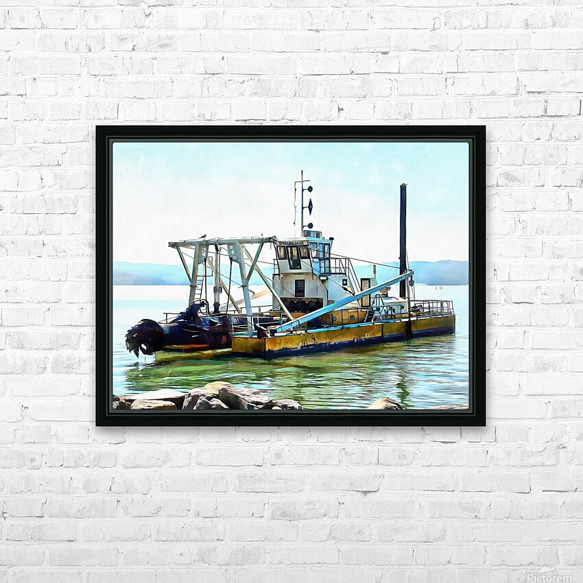 Lake Dredger at Passignano Sul Lago HD Sublimation Metal print with Decorating Float Frame (BOX)