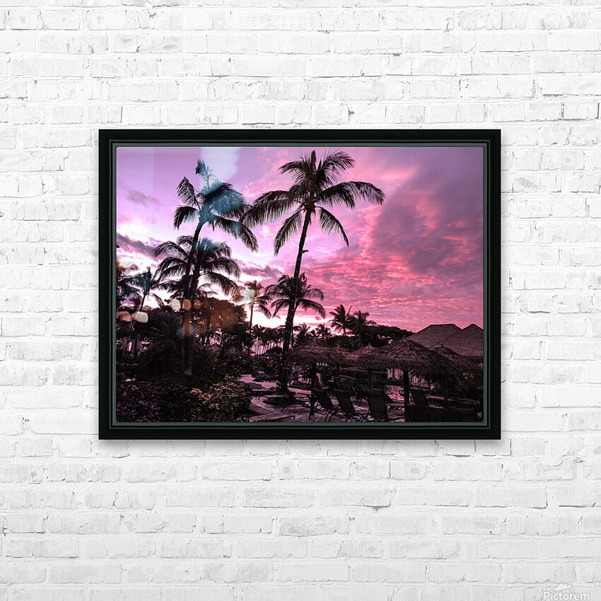 After the Beach Party - Tropical Sunset Hawaii HD Sublimation Metal print with Decorating Float Frame (BOX)
