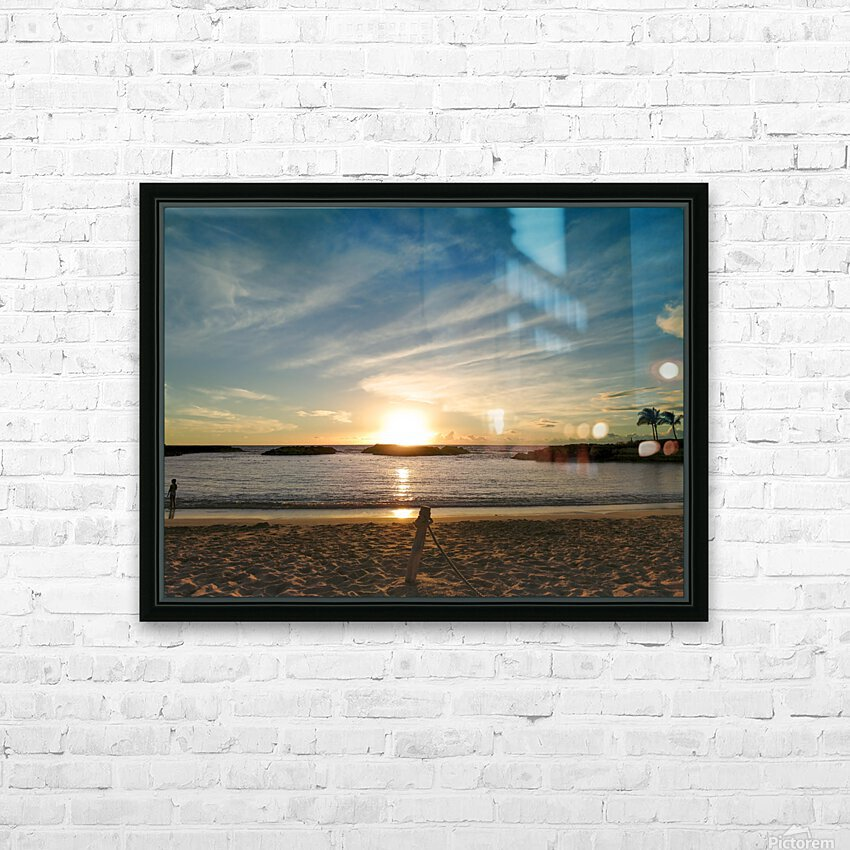 By the Fading Light of the Sun - Tropical Sunset Hawaii HD Sublimation Metal print with Decorating Float Frame (BOX)