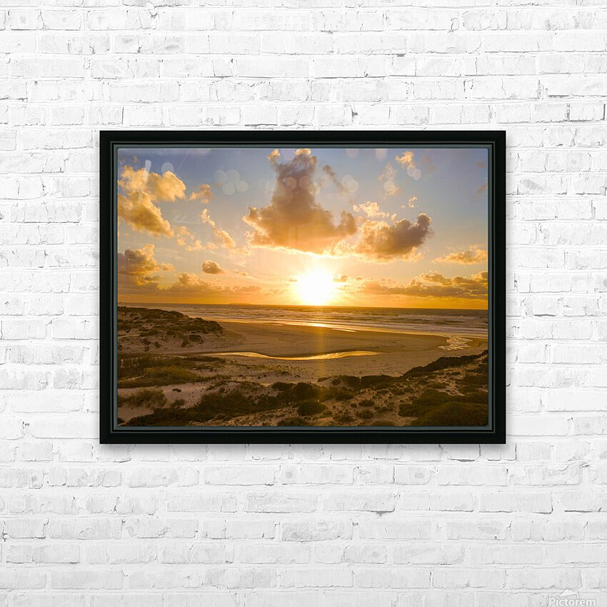 Atlantic Sunset over Praia Del Rey - Portugal HD Sublimation Metal print with Decorating Float Frame (BOX)