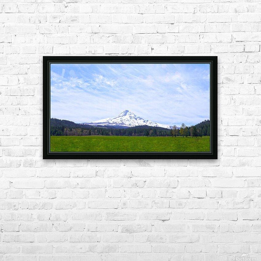 Majestic Mount Hood   Cascade Mountain Range Oregon HD Sublimation Metal print with Decorating Float Frame (BOX)
