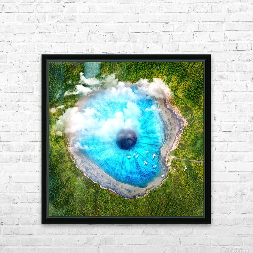 Dream Art XX Surreal Eye Lake HD Sublimation Metal print with Decorating Float Frame (BOX)