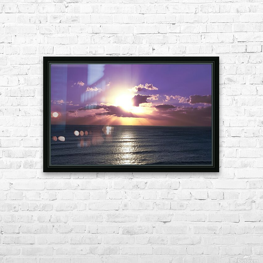 Tranquility - Relaxing Sunset over the Pacific HD Sublimation Metal print with Decorating Float Frame (BOX)