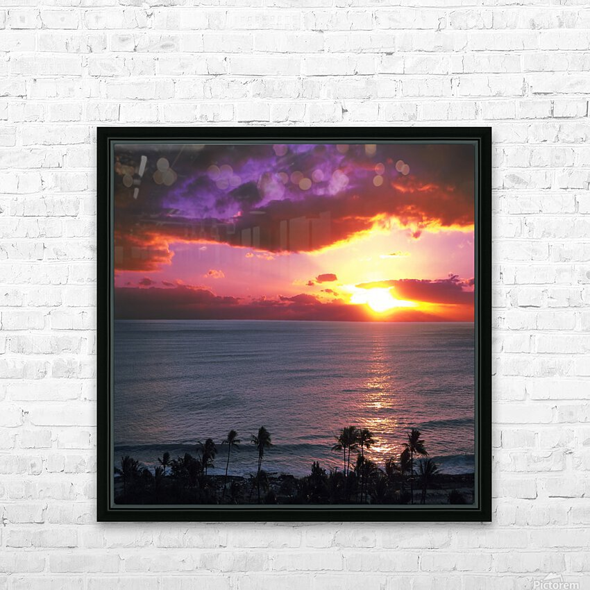 Serenity - Perfect Bliss - Sunset HD Sublimation Metal print with Decorating Float Frame (BOX)