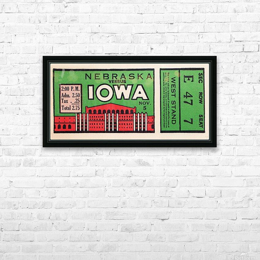 1932 Iowa Hawkeyes vs. Nebraska Cornhuskers HD Sublimation Metal print with Decorating Float Frame (BOX)