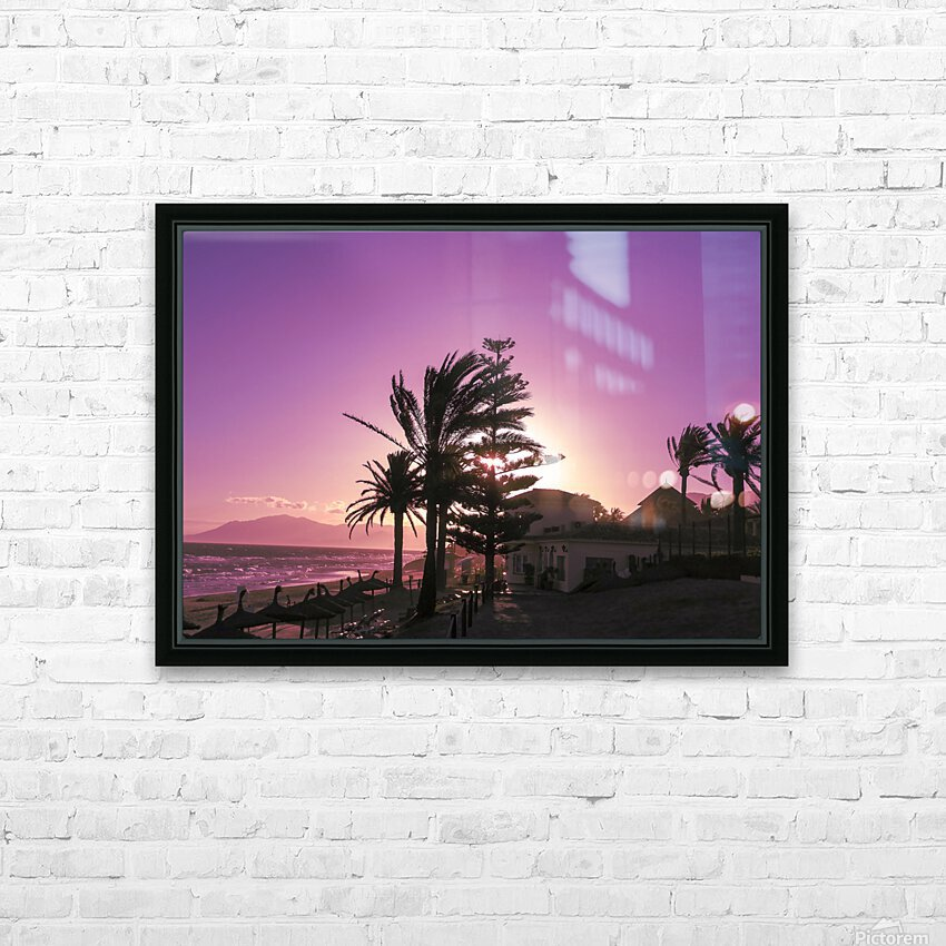 Sunset Costa Del Sol Spain HD Sublimation Metal print with Decorating Float Frame (BOX)