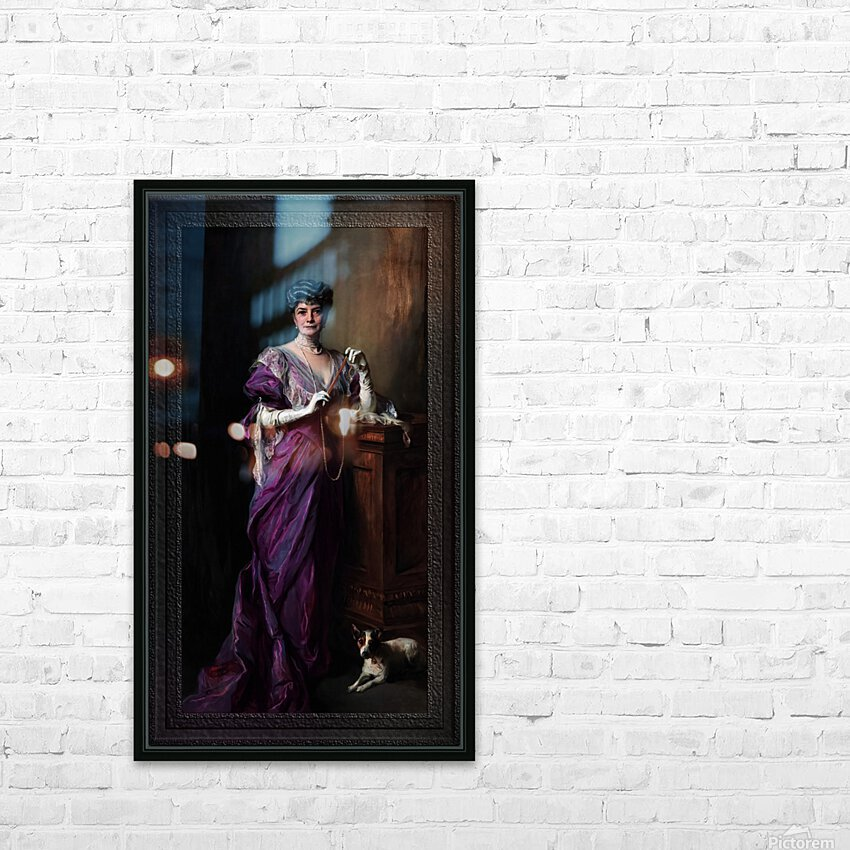 Lady White Todd by Philip de Laszlo Classical Fine Art Xzendor7 Old Masters Reproductions HD Sublimation Metal print with Decorating Float Frame (BOX)
