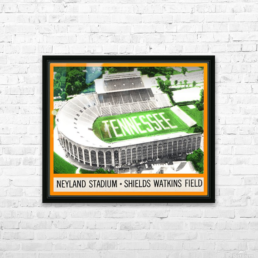 1964 Tennessee Vols Football Ticket Stub Remix HD Sublimation Metal print with Decorating Float Frame (BOX)