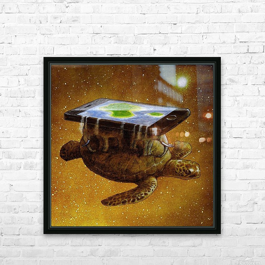 flat world HD Sublimation Metal print with Decorating Float Frame (BOX)