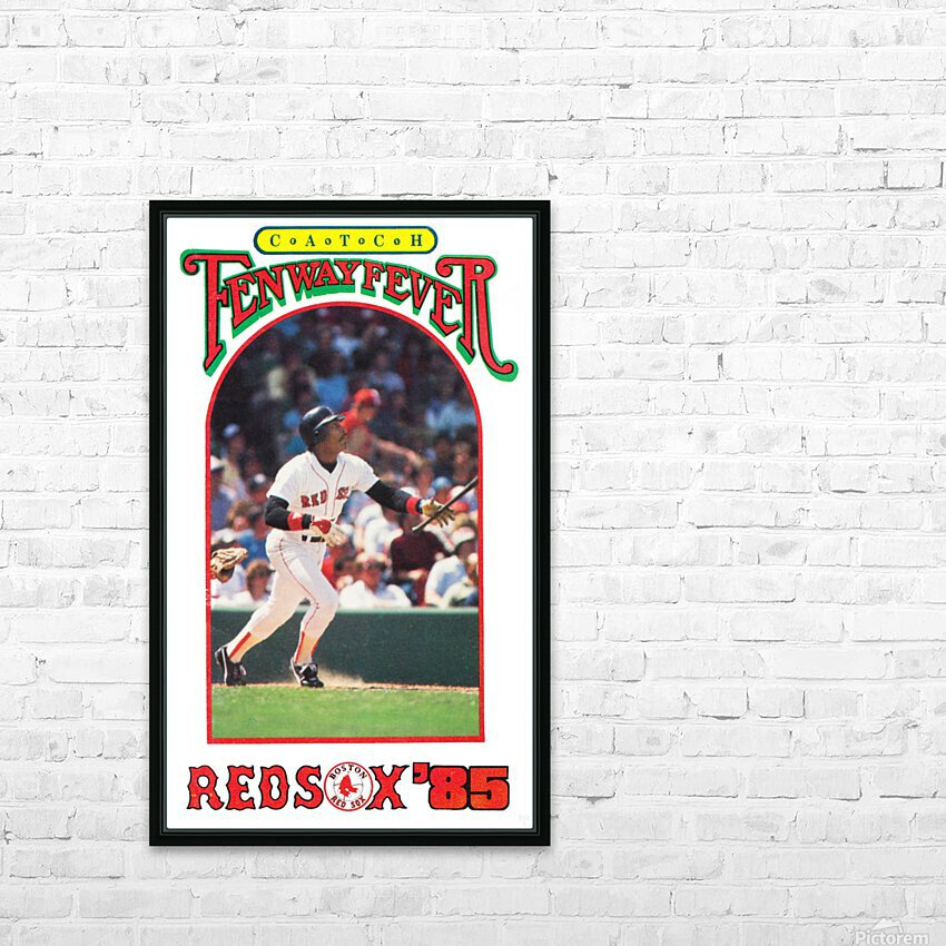 1985 Boston Red Sox Retro Poster HD Sublimation Metal print with Decorating Float Frame (BOX)