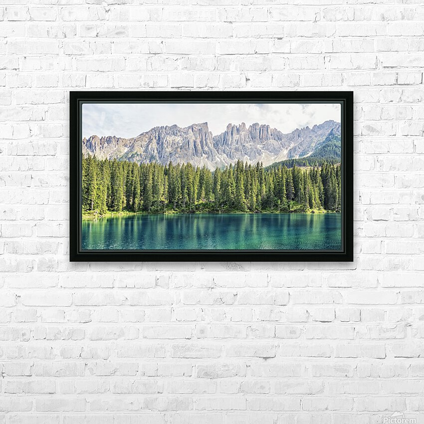 Turquoise Lake HD Sublimation Metal print with Decorating Float Frame (BOX)