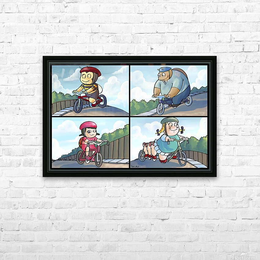 Time for a Bike Ride   Best Friends   4 panel Favorites for Kids Room and Nursery   Bugville Critters HD Sublimation Metal print with Decorating Float Frame (BOX)