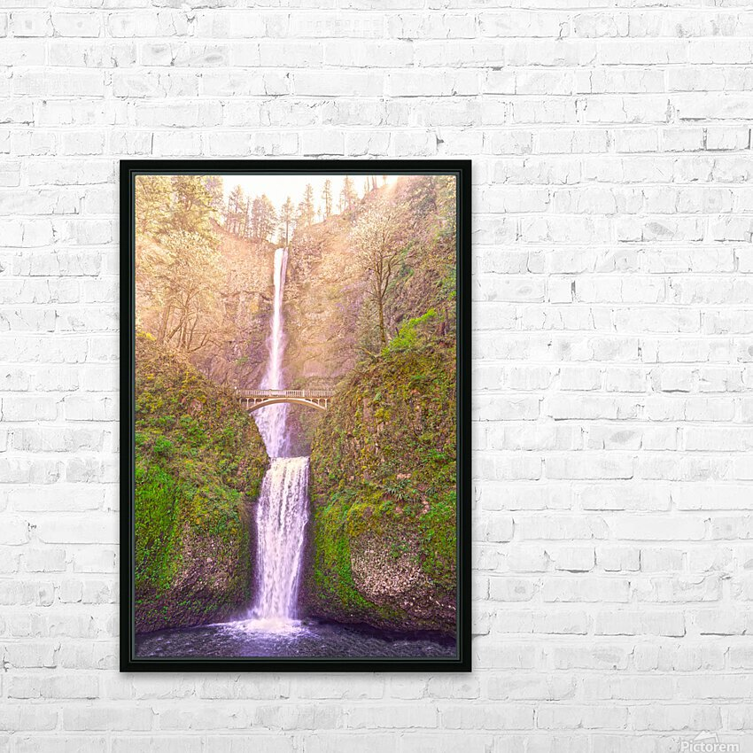 Multnomah Falls Bathed in Sunlight   Columbia River Gorge National Scenic Area   Oregon Pacific Northwest HD Sublimation Metal print with Decorating Float Frame (BOX)