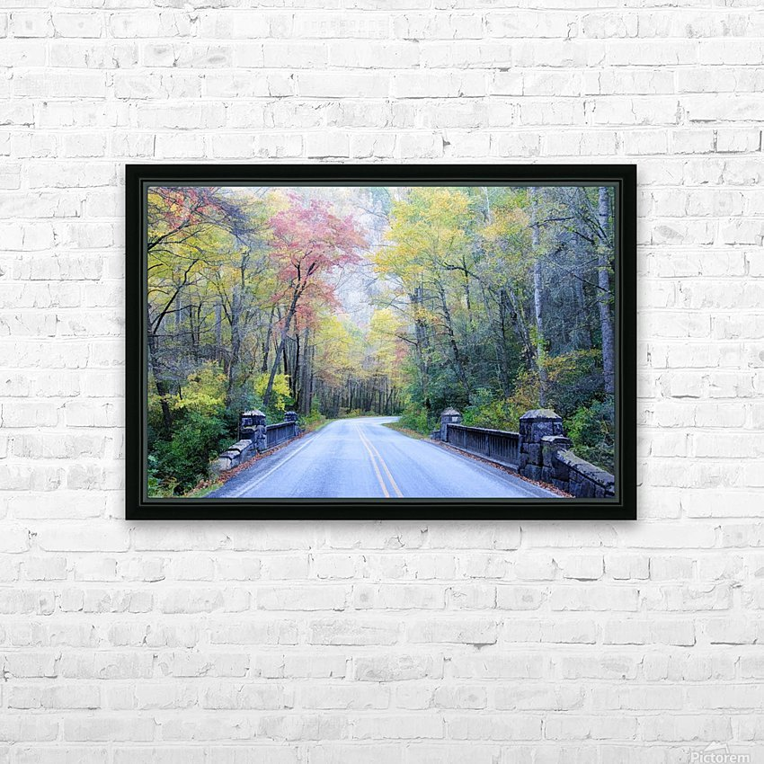 Colorful Fall Evening HD Sublimation Metal print with Decorating Float Frame (BOX)